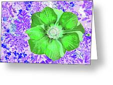 Ethereal Purple Poppy Too Greeting Card