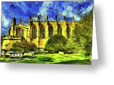 Eton College Chapel Art Greeting Card