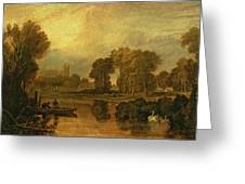 Eton College From The River Greeting Card by Joseph Mallord William Turner
