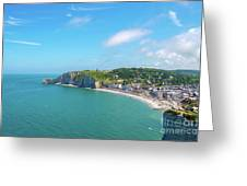 Etretat From Above, France Greeting Card