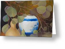 Eucalyptus And Vase Greeting Card