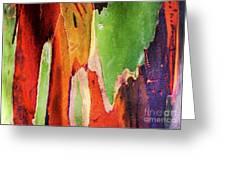 Eucalyptus Tree Bark Two Greeting Card