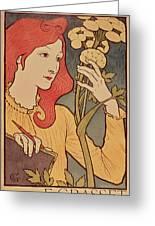 Eugene Grasset Greeting Card