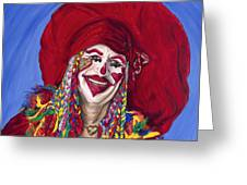 Eureka Springs Clown Greeting Card by Patty Vicknair