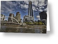 Eureka Tower-view From Cityside Greeting Card