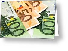 Euro Banknotes Greeting Card
