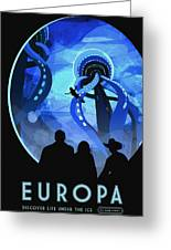 Europa Space Travel Greeting Card