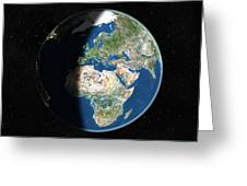 Europe, Satellite Image Greeting Card by Planetobserver