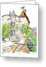 European Chateau Lounge Chair Greeting Card