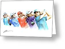 European Golf Champions Race 2017 Greeting Card