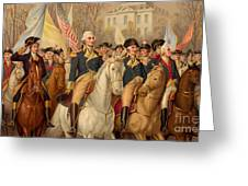 Evacuation Day And Washington's Triumphal Entry In New York City Greeting Card
