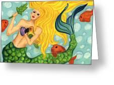 Eve The Mermaid Greeting Card