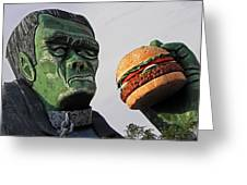 Even Frankie Loves A Burger Greeting Card