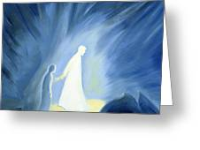 Even In The Darkness Of Out Sufferings Jesus Is Close To Us Greeting Card by Elizabeth Wang