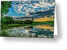 Evening Approaching Cape May Light Greeting Card