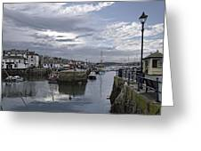 Evening At Custom House Quay - Falmouth Greeting Card