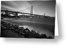 Evening At Golden Gate Bridge Greeting Card