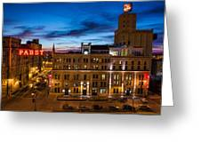 Evening At Pabst Greeting Card