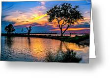 Evening At Riverwinds Greeting Card