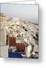 Evening At Santorini Greeting Card