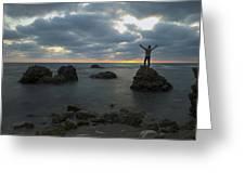 Evening At Sidna Ali Beach 2 Greeting Card