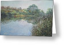 Evening At Southampton Common Lake Greeting Card
