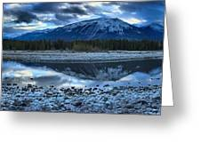 Evening At The Athabasca River Greeting Card