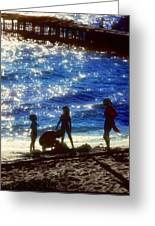 Evening At The Beach Greeting Card by Stephen Anderson