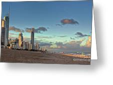 Evening At The Gold Coast Greeting Card