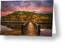 Evening At The Lake Greeting Card