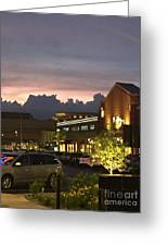 Evening At The Mall Greeting Card