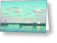 Evening At The Waterside Greeting Card
