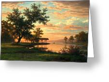 Evening Atmosphere By The Lakeside Greeting Card
