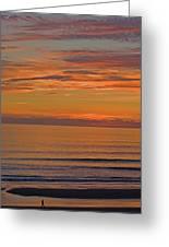Evening Beach Walk Greeting Card