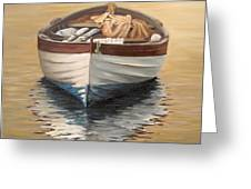 Evening Boat Greeting Card