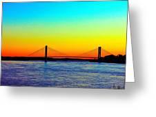 Evening Bridge Greeting Card