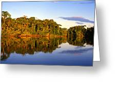 Evening By Garzacocha Lake Greeting Card
