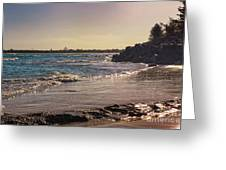 Evening By The Beach Greeting Card