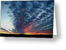 Evening Sky In Kansas Greeting Card