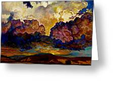 Evening Clouds Over The Valley Greeting Card