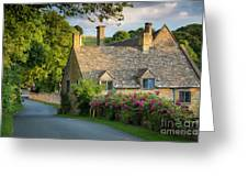 Evening Cottage Greeting Card