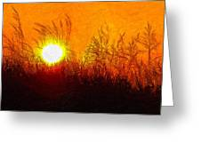 Evening Dunes Impasto Greeting Card