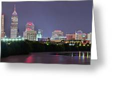 Evening Falls On Indianapolis Greeting Card