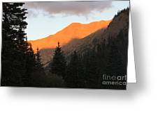 Evening Fire Greeting Card