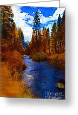 Evening Hatch On The Metolius Painting Greeting Card