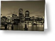 Evening In Boston Greeting Card