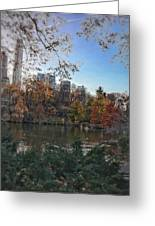 Evening In Central Park Greeting Card