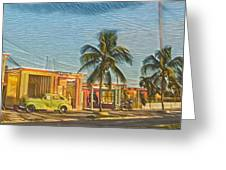 Evening In Cuba Greeting Card