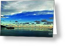 Evening In Paradise Panoramic Greeting Card
