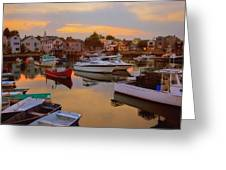 Evening In Rockport Greeting Card